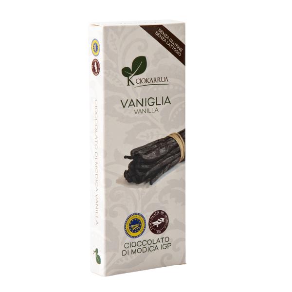 Ciocolata de Modica, Ciokarrua, aroma de vanilie, 50% cacao, 100g 0