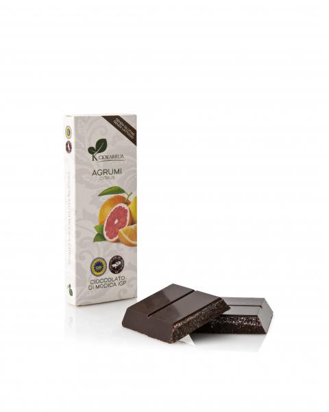 Ciocolata de Modica, Ciokarrua, citrice, 100g 1
