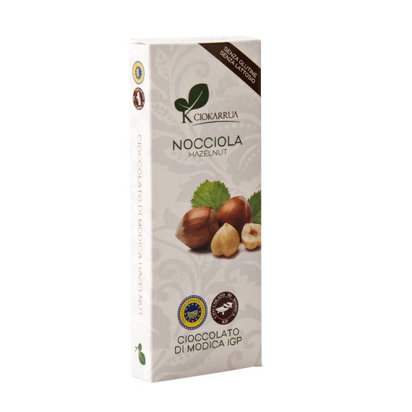 Ciocolata de Modica, Ciokarrua, cu alune de padure, 50% cacao, 100 g 0