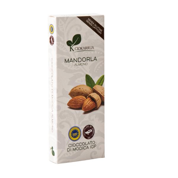 Ciocolata de Modica, Ciokarrua, cu migdale, 50% cacao, 100g 0