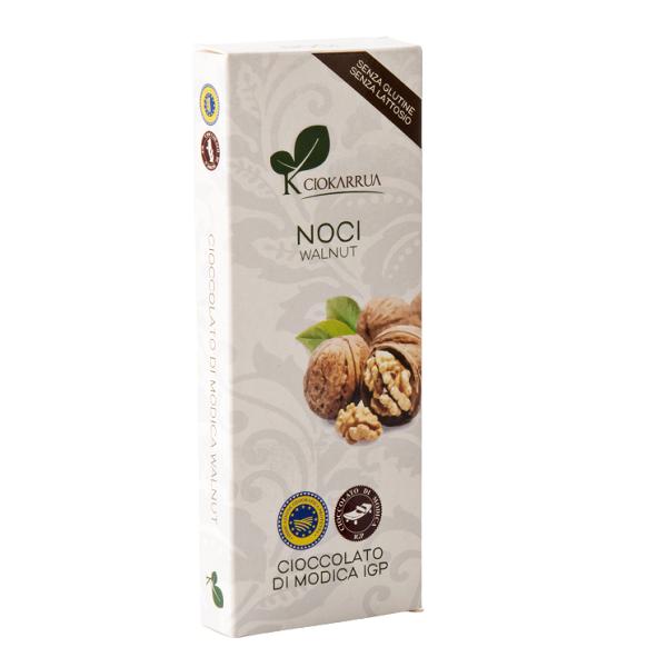 Ciocolata de Modica, Ciokarrua, cu nuci, 50% cacao, 100 g 0