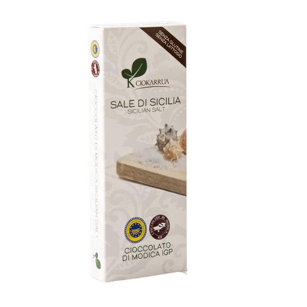 Ciocolata de Modica, Ciokarrua, cu sare, 50% cacao 100 g 0