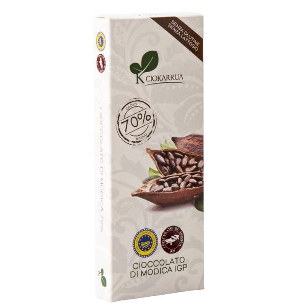 Ciocolata de Modica, Ciokarrua,neagra, 70% cacao 100 g 0