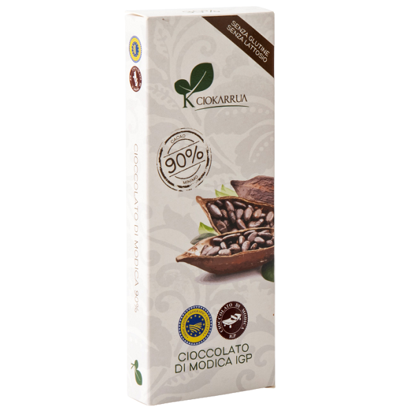 Ciocolata de Modica, Ciokarrua, neagra, 90% cacao 100 g 0