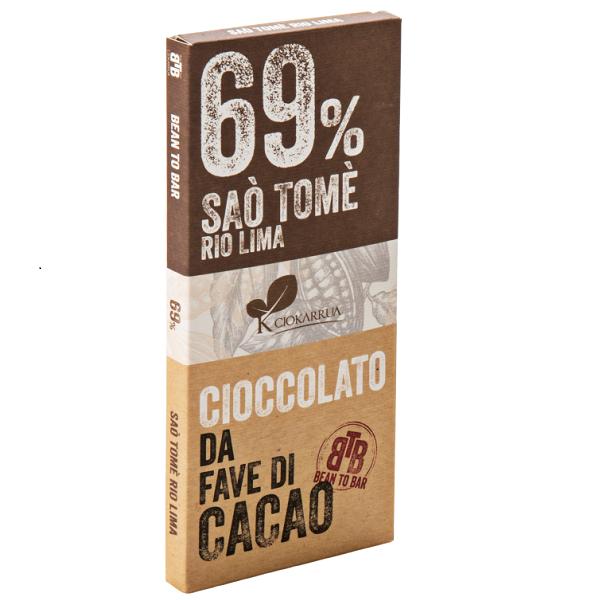Ciocolata de Modica, Ciokarrua, Single Origin, 69% cacao, 50 g 0