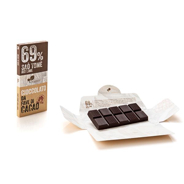 Ciocolata de Modica, Ciokarrua, Single Origin, 69% cacao, 50 g 2
