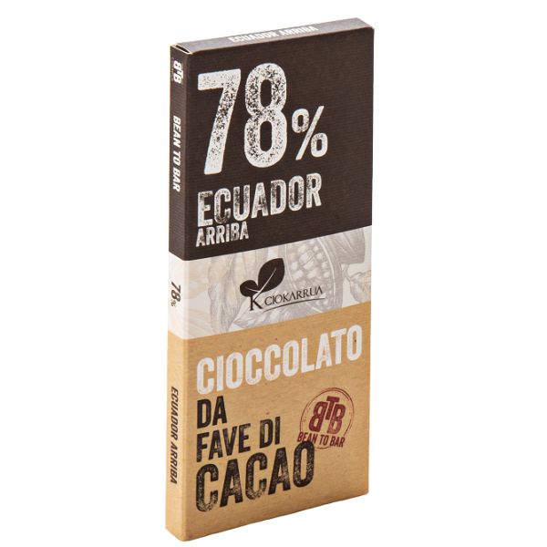 Ciocolata de Modica, Ciokarrua, Single Origin, 78% cacao, 50g 0