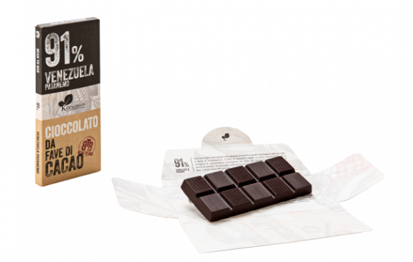 Ciocolata de Modica, Ciokarrua, Single Origin, 91% cacao, 50 g 2