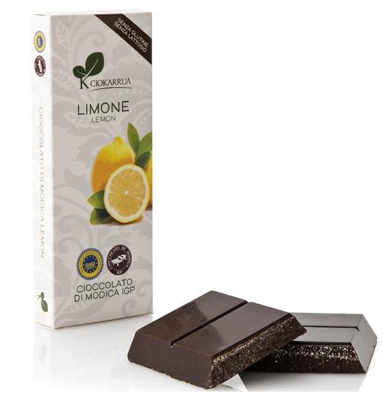 Ciocolata Modica, Ciokarrua, aroma de lamaie, 50% cacao 100 g 1