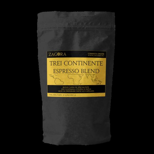 Cafea Trei Continente Espresso Blend, de specialitate artizanala 0