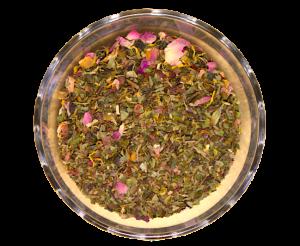 Ceai Beauty Queen, coktail de ceai alb, aromatizat cu fructe, 50g0