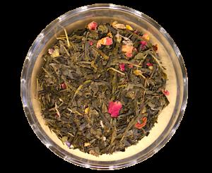 Ceai Blue Sky, coktail de ceai verde si flori, 50g0