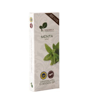 Ciocolata de Modica, Ciokarrua, aroma de menta, 50% cacao, 100 g0