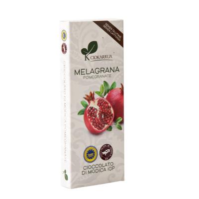 Ciocolata de Modica, Ciokarrua, aroma de rodie, 50% cacao, 100 g0