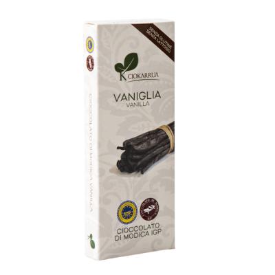 Ciocolata de Modica, Ciokarrua, aroma de vanilie, 50% cacao, 100g0