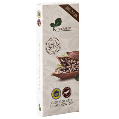 Ciocolata de Modica, Ciokarrua, neagra, 90% cacao 100 g0