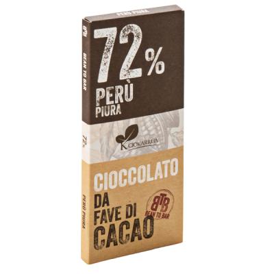 Ciocolata de Modica, Ciokarrua, Single Origin, 72% cacao 50 g0