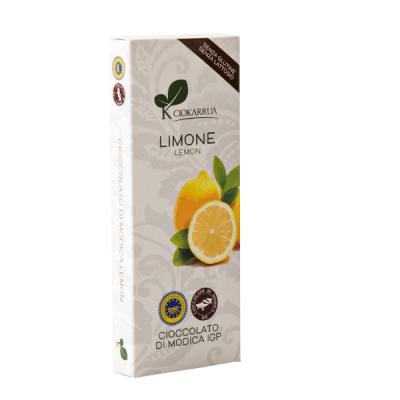 Ciocolata Modica, Ciokarrua, aroma de lamaie, 50% cacao 100 g0