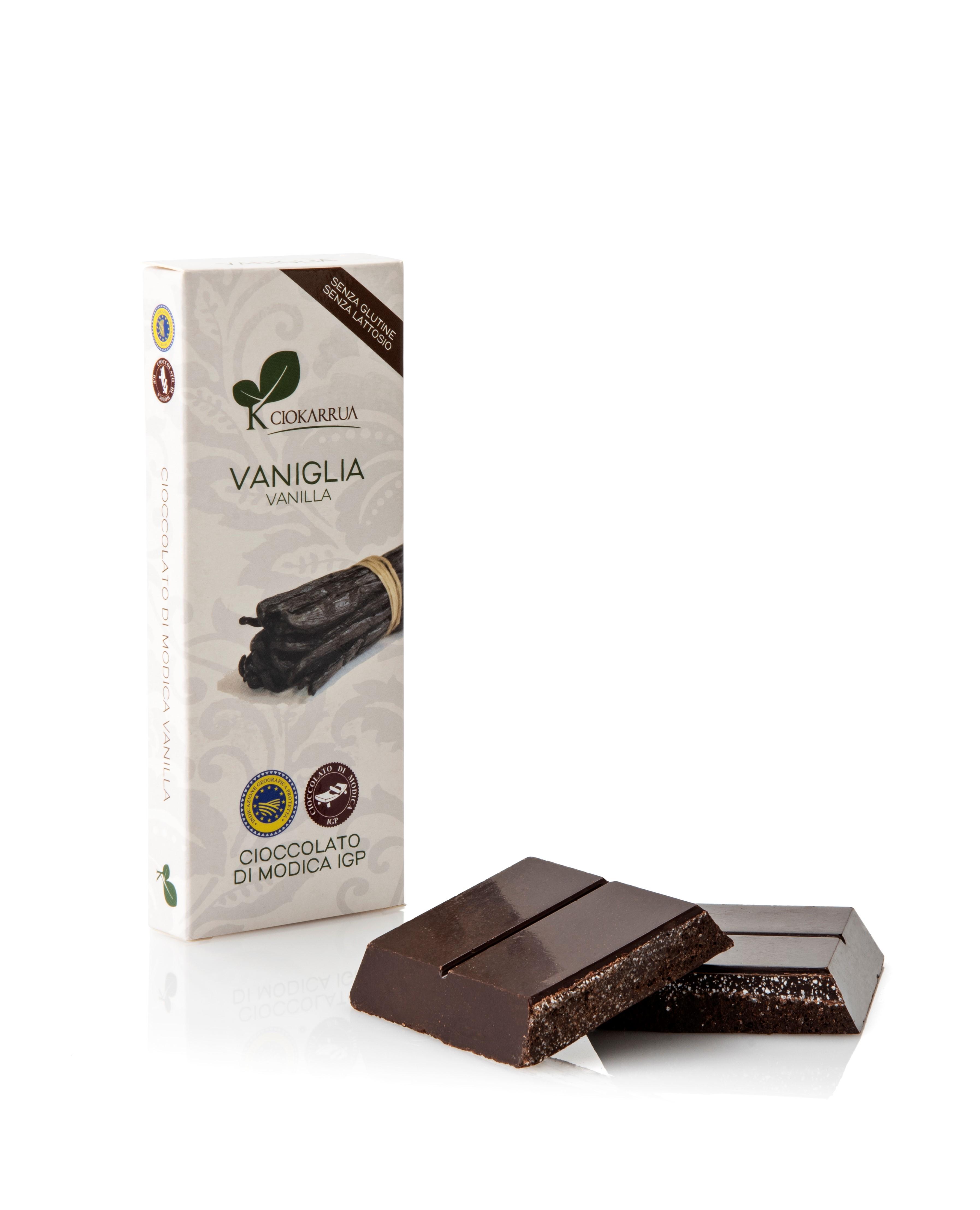 Ciocolata de Modica, Ciokarrua, aroma de vanilie, 50% cacao, 100g1