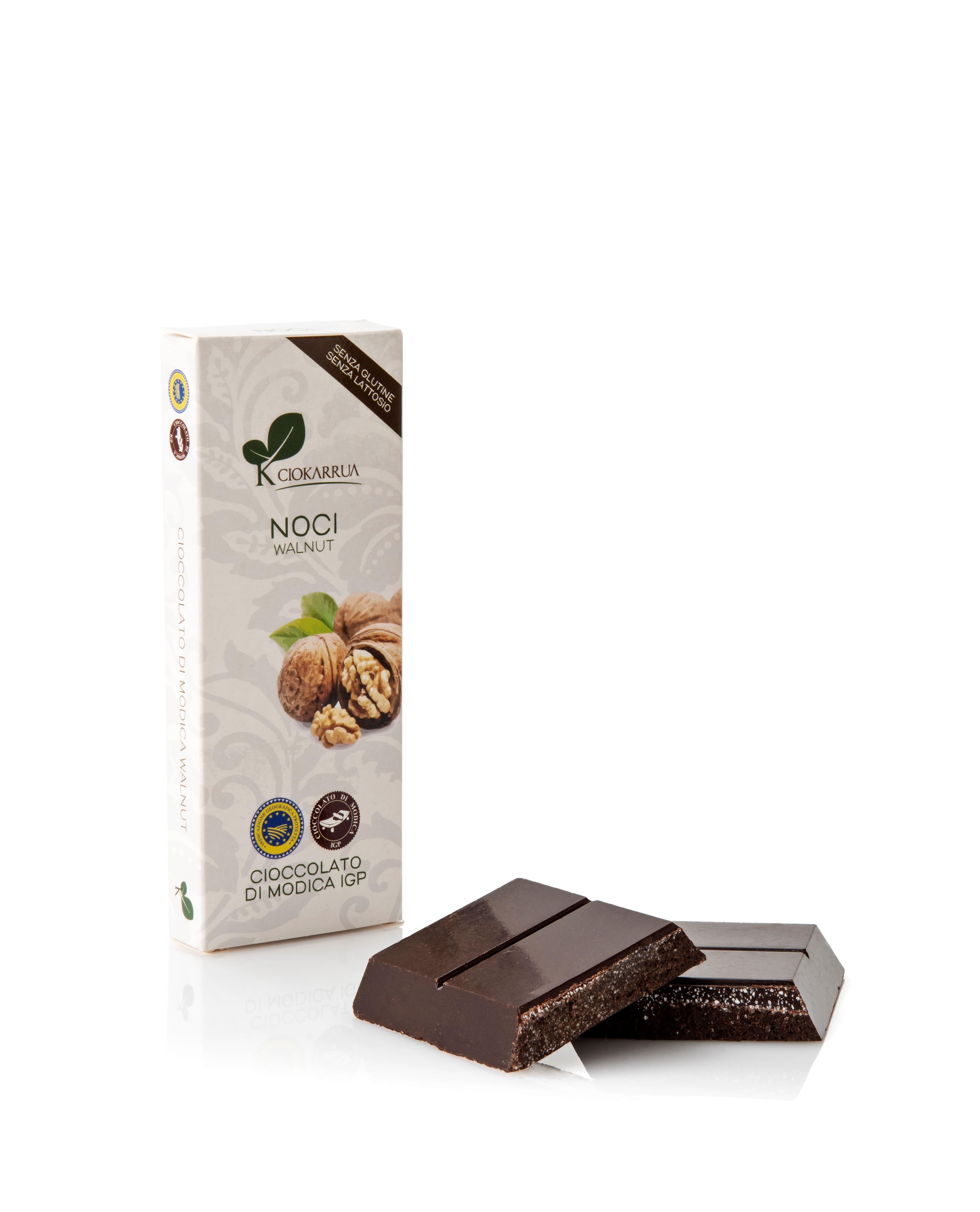 Ciocolata de Modica, Ciokarrua, cu nuci, 50% cacao, 100 g 1