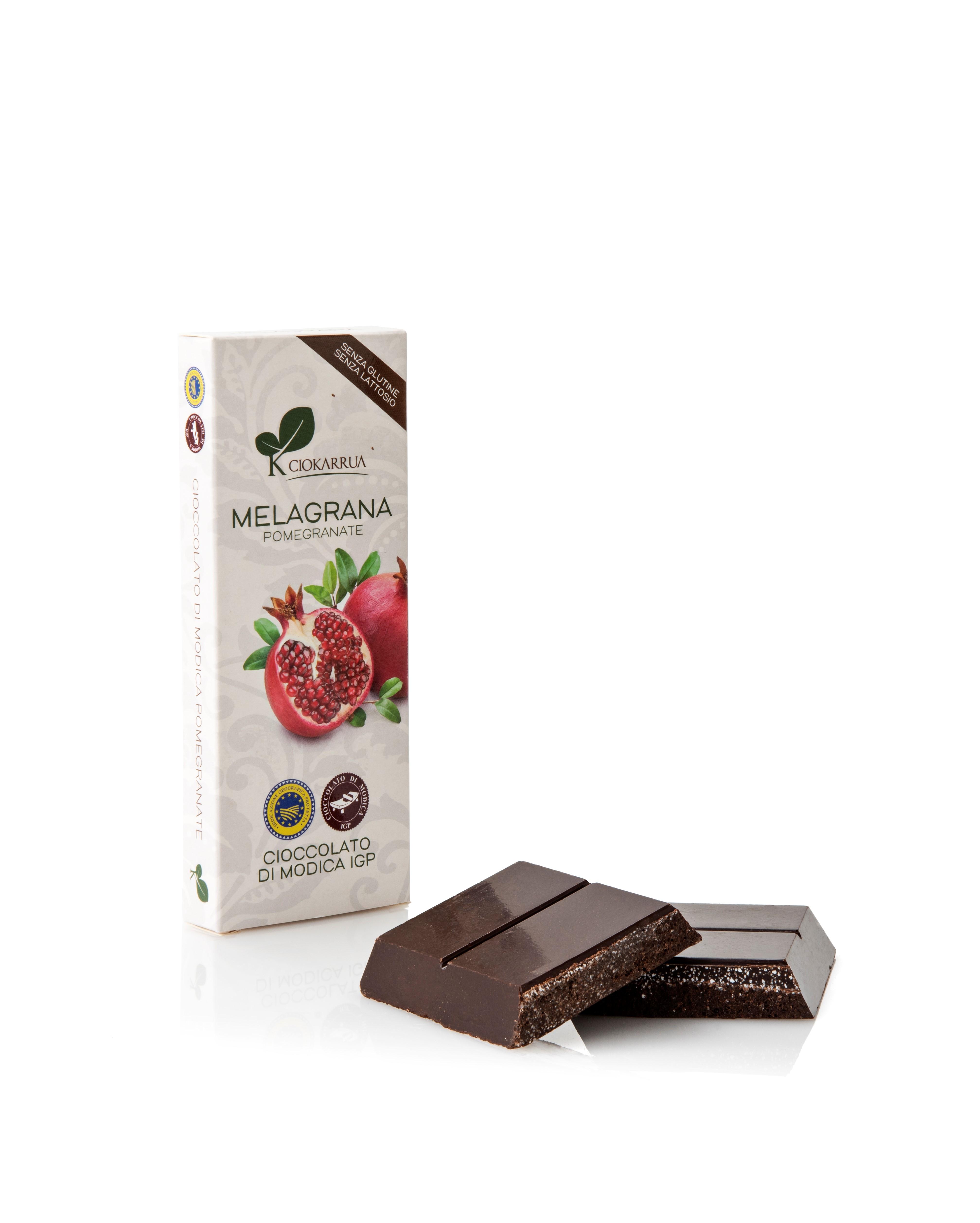 Ciocolata de Modica, Ciokarrua, aroma de rodie, 50% cacao, 100 g 1