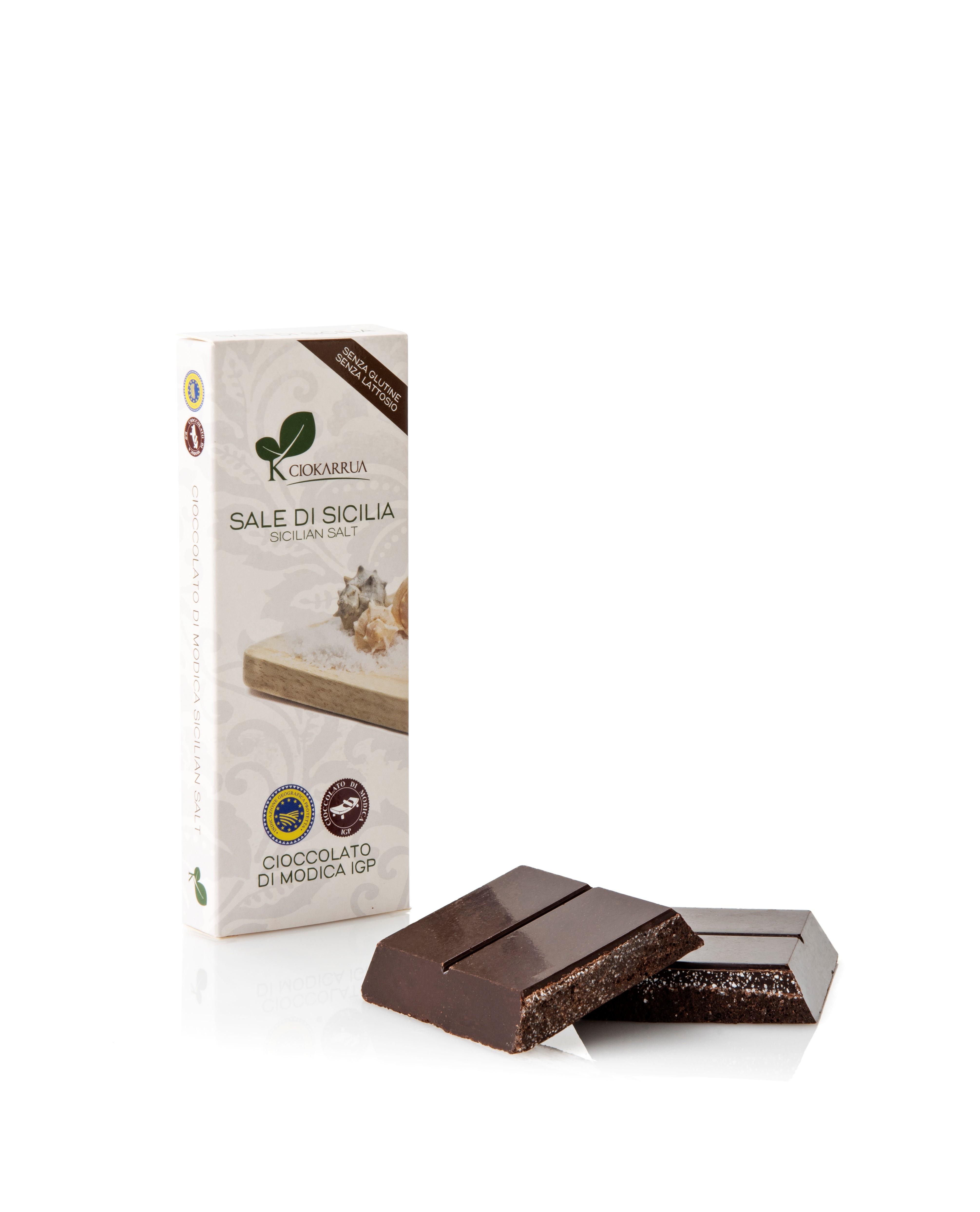 Ciocolata de Modica, Ciokarrua, cu sare, 50% cacao 100 g 1