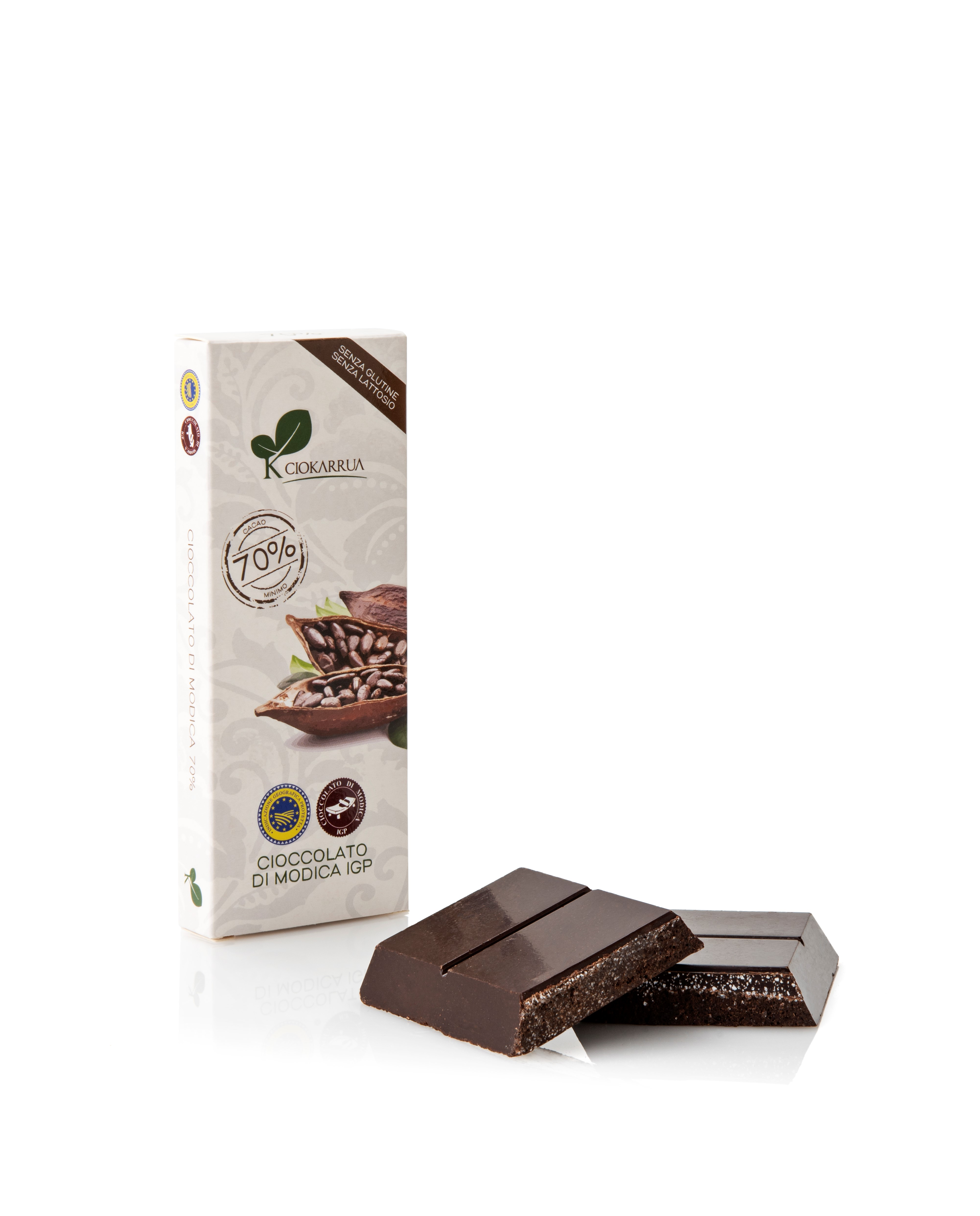 Ciocolata de Modica, Ciokarrua,neagra, 70% cacao 100 g 1