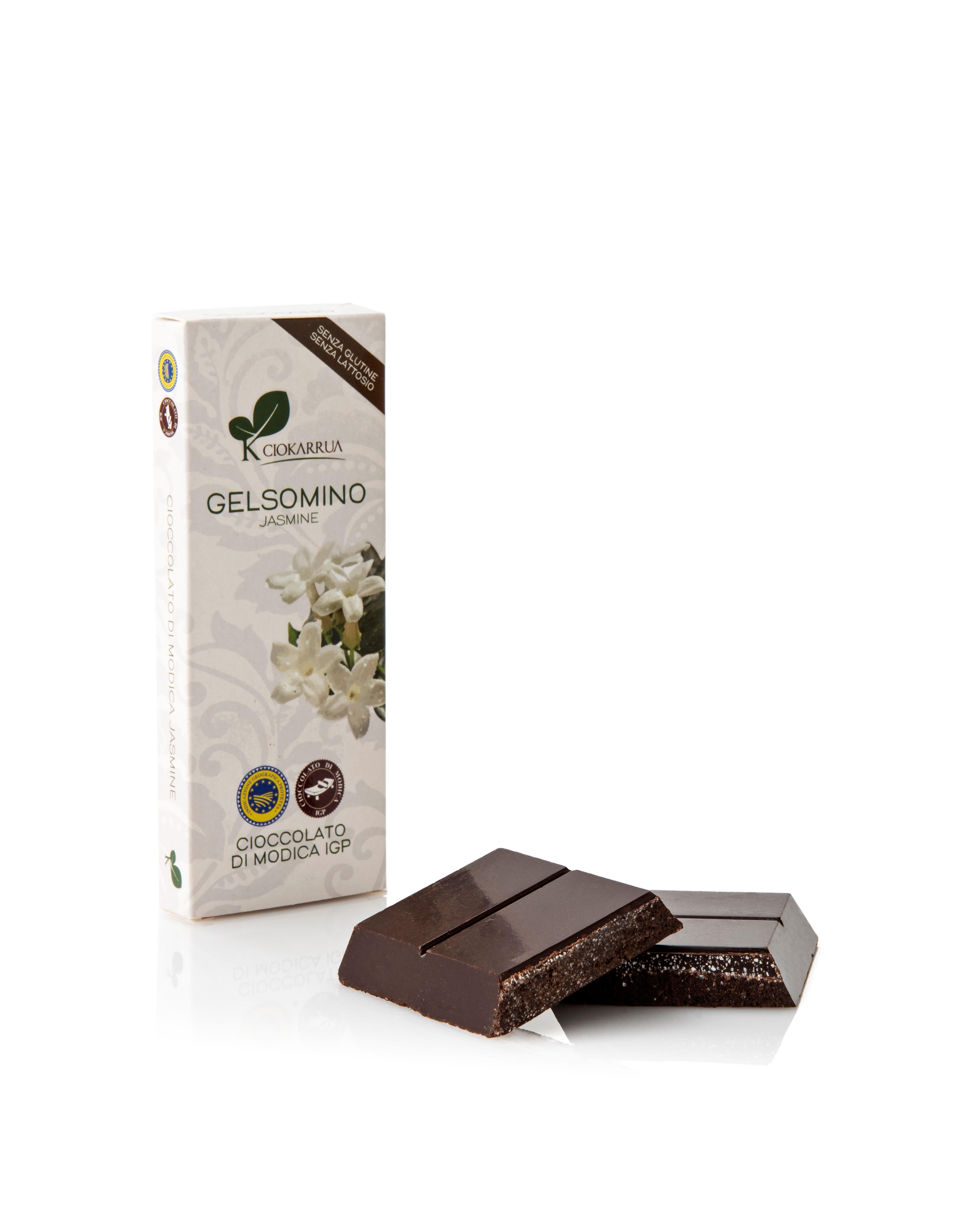 Ciocolata de Modica, Ciokarrua, aroma de iasomie, 50% cacao 100 g 1