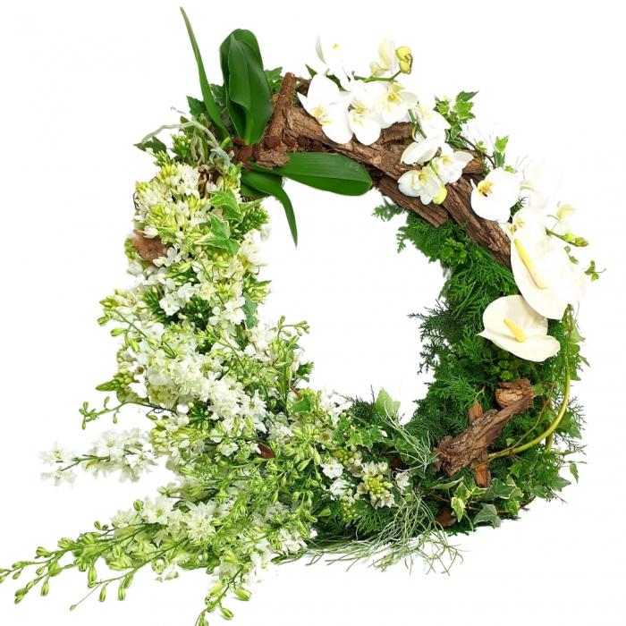 Coroana funerara scoarta copac [0]