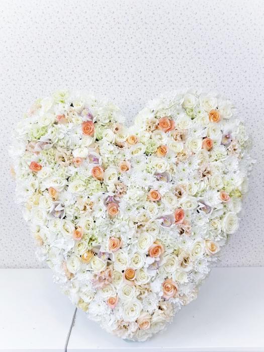 Coroana funerara inima pastel [1]