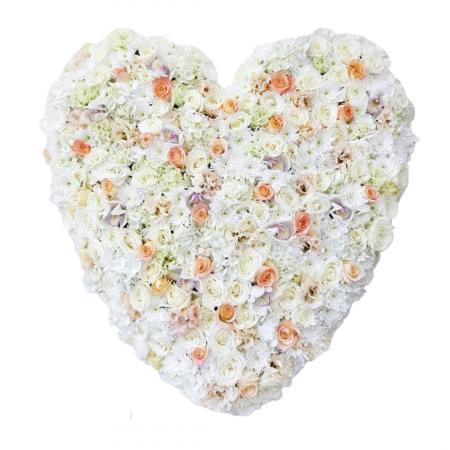Coroana funerara inima pastel [0]