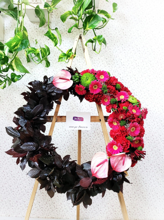 Coroana funerara rosu si negru [1]
