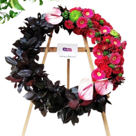 Coroana funerara rosu si negru [0]