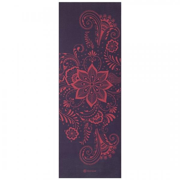 Saltea Yoga Gaiam - 6 mm - Aubergine Swirl 0