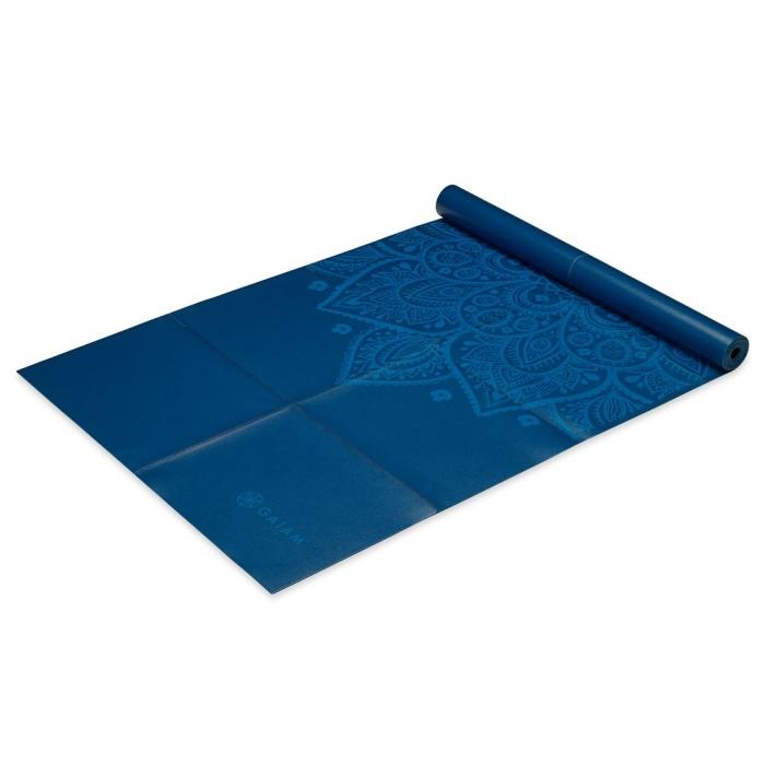 Saltea Yoga Gaiam Pliabila - 2 mm - Sundial Albastru 1