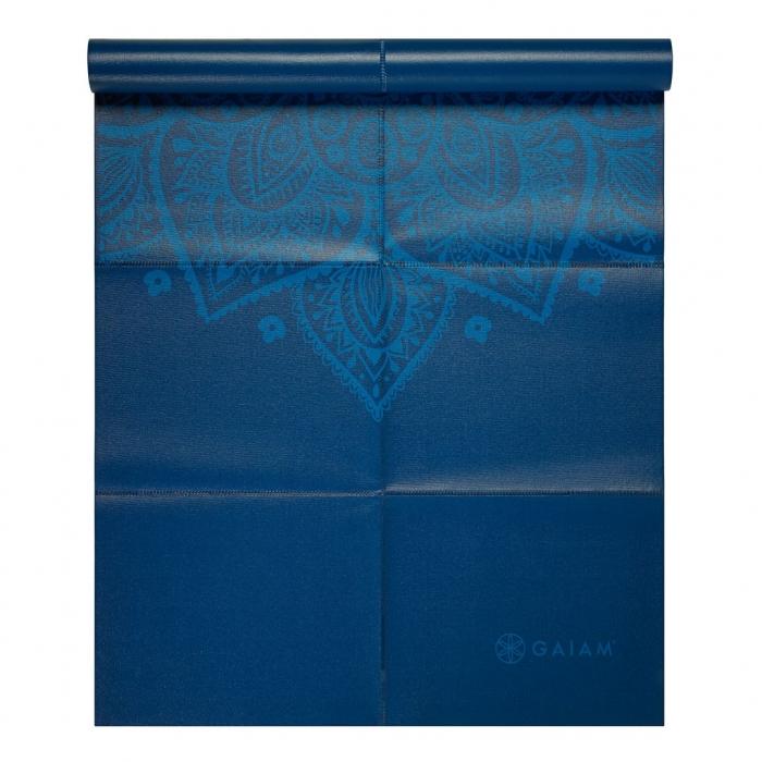 Saltea Yoga Gaiam Pliabila - 2 mm - Sundial Albastru 0