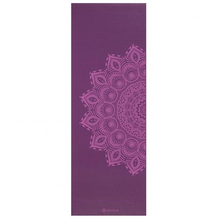 Saltea Yoga Gaiam Premium - 6 mm - Purple Mandala 0