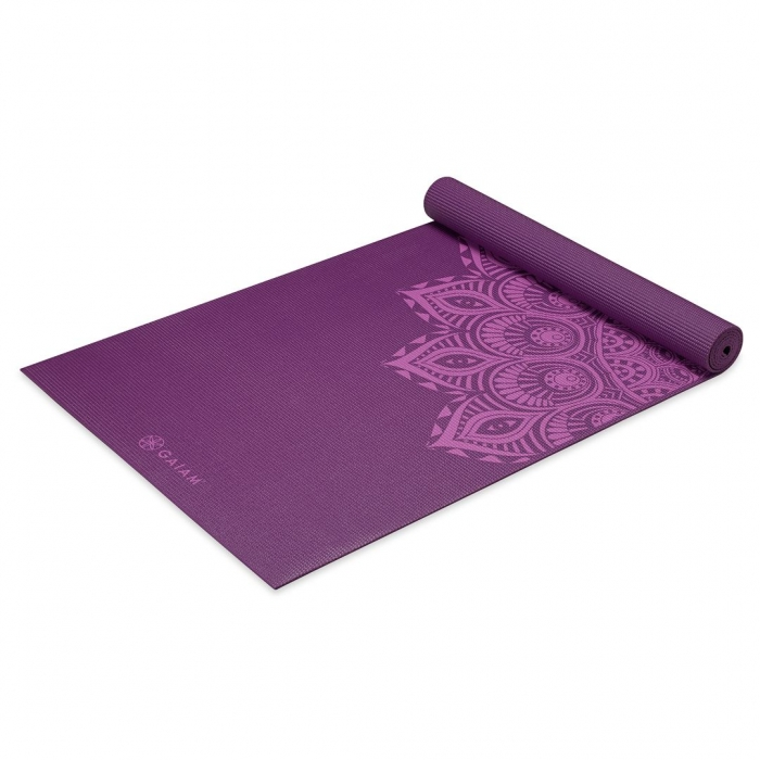 Saltea Yoga Gaiam Premium - 6 mm - Purple Mandala 1