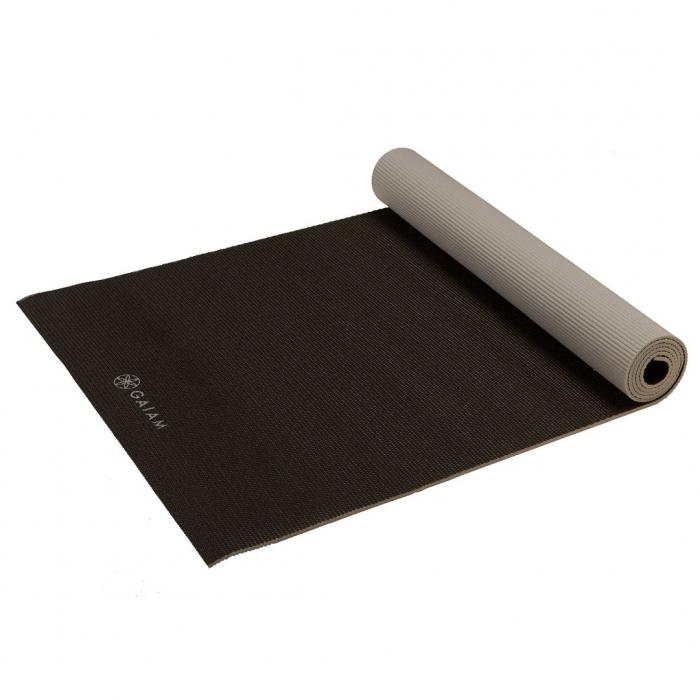 Saltea Yoga Gaiam Reversibila - 6 mm - Granite/Storm 5
