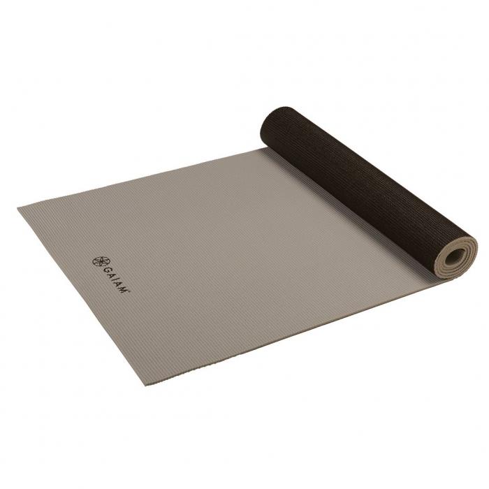 Saltea Yoga Gaiam Reversibila - 6 mm - Granite/Storm 4