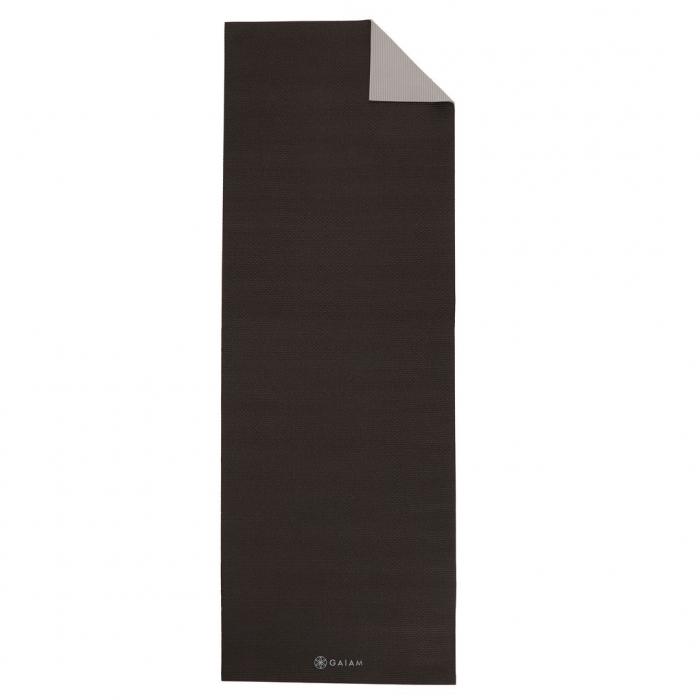 Saltea Yoga Gaiam Reversibila - 6 mm - Granite/Storm 0