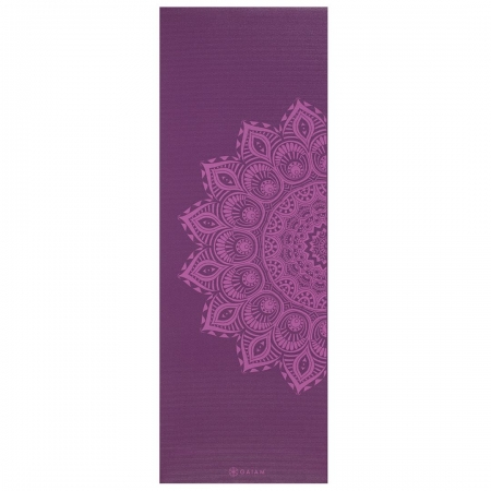 Saltea Yoga Gaiam Premium- 6 mm - Purple Mandala0