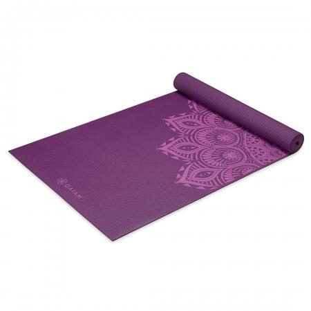 Saltea Yoga Gaiam Premium- 6 mm - Purple Mandala1