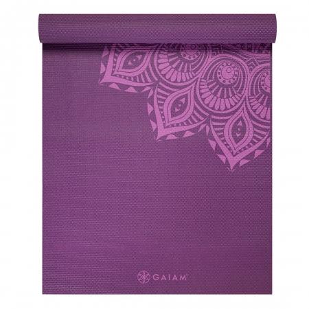 Saltea Yoga Gaiam Premium- 6 mm - Purple Mandala2