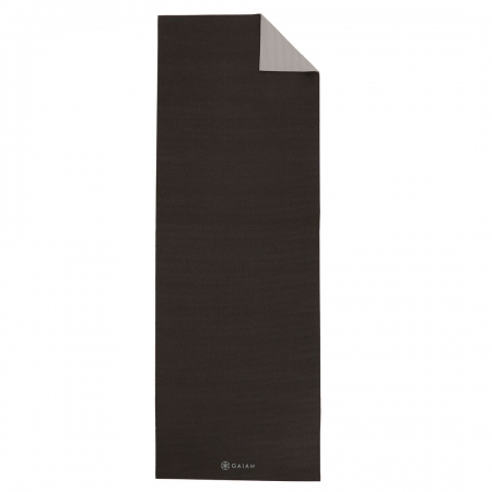 Saltea Yoga Gaiam Reversibila - 6 mm - Granite/Storm0