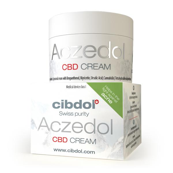 Aczedol | Crema lipozomala cu CBD, pentru Acnee | Cibdol - Swiss Purity 0