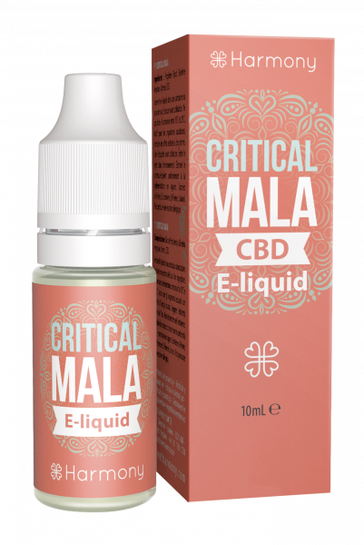 E-Lichid cu CBD - aroma Critical Mala - CBD Pur, Organic, 100% Natural - Fara Nicotina sau THC 0