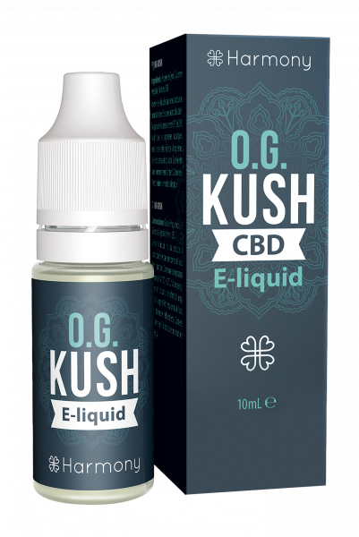 E-Lichid CBD - aroma OG Kush - CBD Pur, Organic, 100% Natural - Fara Nicotina sau THC 0