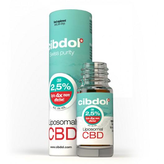 "Ulei Lipozomal CBD 2,5% | Cibdol | 100% Natural, Calitate Superioara ""Swiss Made"", Testat in Laborator pt. compozitie si puritate 1"