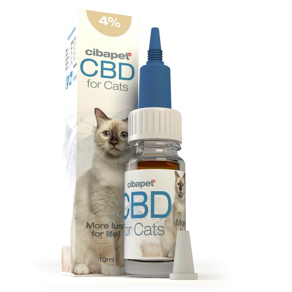 Ulei CBD 4% pentru pisici - CBD organic, 100% natural - testat si acreditat 0